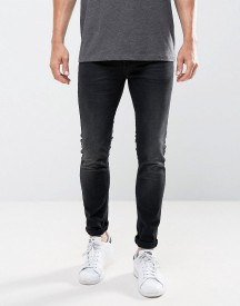 Only & Sons Jeans In Skinny Fit Washed Black afbeelding
