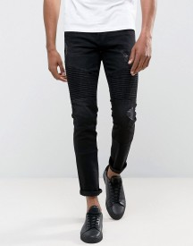 Only & Sons Jeans In Slim Fit With Distressed Biker Knees afbeelding