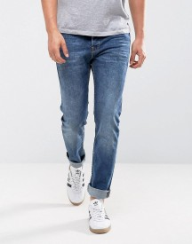 Only & Sons Slim Fit Jeans In Washed Blue Denim afbeelding