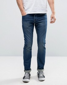 Only & Sons Stretch Slim Fit Jog Jeans In Washed Blue afbeelding