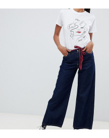 Only Tall Wide Leg Jean With Tie Belt afbeelding
