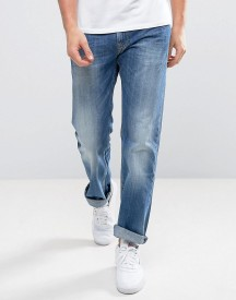 Pepe Jeans Kingston Zip Straight Fit Jeans In Mid Wash afbeelding