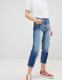 Pepe Jeans Patchy Panelled Cropped Boyfriend Jeans afbeelding