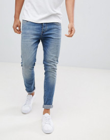 Pier One Slim Fit Jeans In Light Blue afbeelding