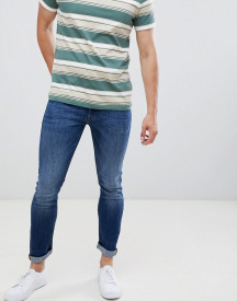 Produkt Skinny Fit Jeans In Mid Blue Denim afbeelding
