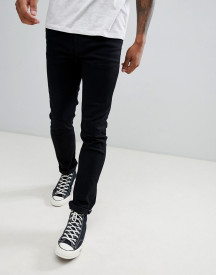 Produkt Skinny Fit Jeans In Washed Black Denim afbeelding
