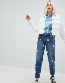 Pull&bear Beauty And The Beast Mom Jeans afbeelding