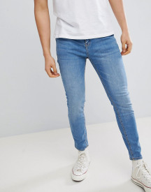 Pull&bear Carrot Fit Jeans In Blue Wash afbeelding