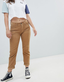 Pull&bear Cord Mom Jean In Brown afbeelding