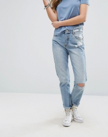 Pull&bear Ripped Knee Mom Jeans afbeelding