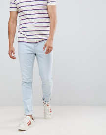 Pull&bear Slim Fit Jeans In Light Blue afbeelding