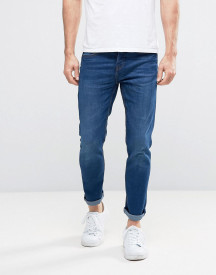 Pull&bear Slim Jeans In Dark Wash afbeelding