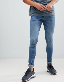 Pull&bear Super Skinny Jeans In Blue afbeelding