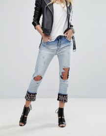 Replay Boyfriend Jeans With Embellished Turn Up afbeelding