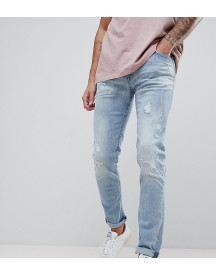 Replay Jondrill Distressed Skinny Jeans In Lightwash afbeelding