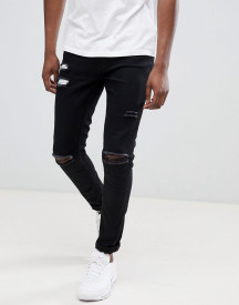 Ringspun Super Skinny Jeans With Ultra Rips afbeelding