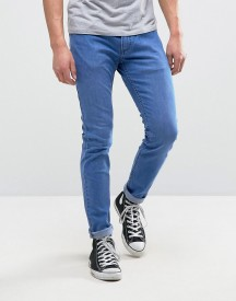 Rollas Rollies Stretch Slim Jeans Rolled Hem Bold Blue Wash afbeelding