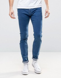 Rollas Stinger Low Rise Super Skinny Jean Blue Tint Wash afbeelding