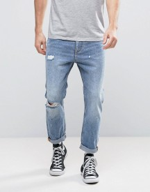 Rollas Stubs Cropped Jeans Stoned Ripped afbeelding