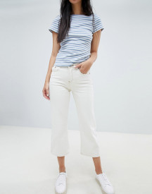 Ryder Cropped Kick Flare White Jeans afbeelding