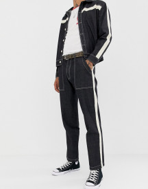 Sacred Hawk Tapered Jeans With Side Stripe afbeelding