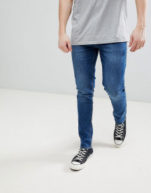Saints Row Skinny Fit Jeans In Indigo afbeelding