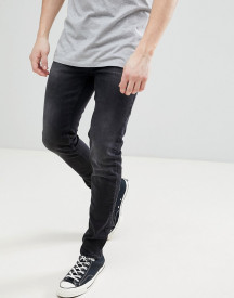 Saints Row Skinny Fit Jeans In Washed Black afbeelding