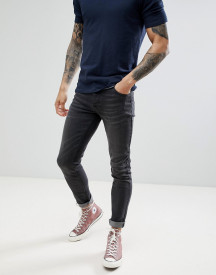 Saints Row Slim Fit Jeans In Washed Black afbeelding
