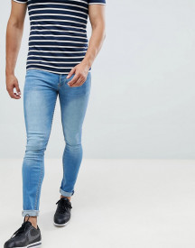 Saints Row Super Skinny Jeans In Light Blue afbeelding