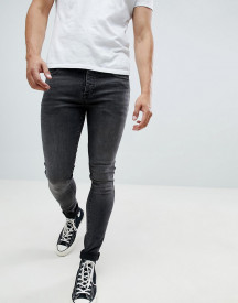 Saints Row Super Skinny Jeans In Washed Black afbeelding