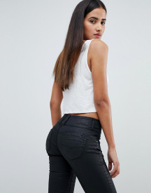 Salsa Mystery Bum Sculpting High Waist Skinny Jean With Black Coating afbeelding