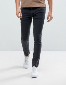Selected Homme Jeans In Skinny Fit With Raw Hem afbeelding
