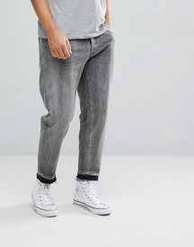 Selected Homme Jeans In Tapered Fit With Cropped Leg afbeelding