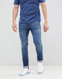 Selected Homme Slim Fit Mid Blue Jeans afbeelding