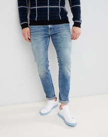 Selected Homme Slim Fit Mid Blue Wash Jeans afbeelding