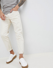 Selected Homme Slim Tapered Jeans In White Denim afbeelding