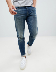 Selected Homme Washed Blue Jeans In Tapered Fit afbeelding