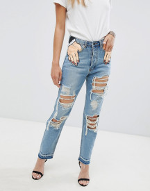 Signature 8 Festival Hand In Pocket Jeans With Rips afbeelding