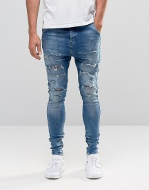 Siksilk Hareem Jeans With Thigh Rips afbeelding