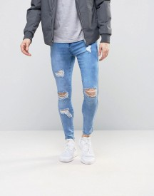 Siksilk Super Skinny Jeans With Distressing afbeelding