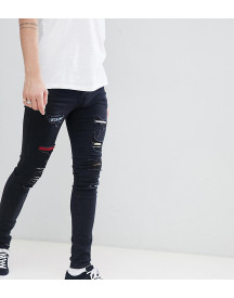 Sixth June Super Skinny Jeans In Black With Distressing Exclusive To Asos afbeelding