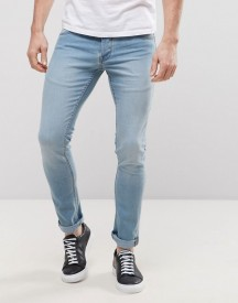 Solid Skinny Jeans In Light Wash afbeelding