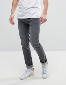 Solid Slim Fit Jeans In Mid Grey Wash With Stretch afbeelding