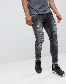 Soul Star Heavy Rip And Repair Jeans afbeelding