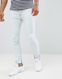 Soul Star Skinny Fit Jeans In Bleach Wash afbeelding