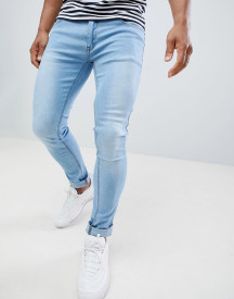 Soul Star Skinny Fit Jeans In Light Blue Wash afbeelding
