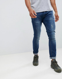 Soul Star Super Soft Stretch Bleached Patch Jeans afbeelding