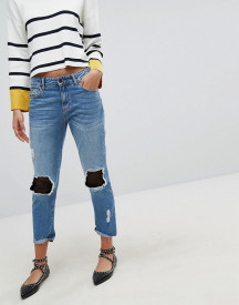Stradivarius Denim Jean With Mesh Patching afbeelding