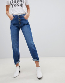 Stradivarius Str 4 Button Mom Fit Jean afbeelding