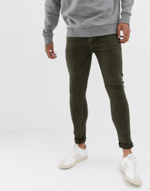 Threadbare Super Skinny Jeans In Grey Khaki Wash afbeelding